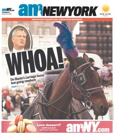 "AMNY mocks de Blasio's carriage horse ban efforts with ""WHOA!"""