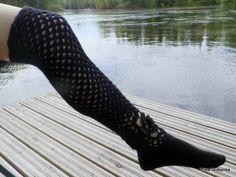 Black is the most beautiful Riga, High Socks, Crocheting, Knit Crochet, Most Beautiful, Wool, Knitting, Black, Art