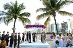 Alexis and Jordan became husband and wife on a perfect day for an outdoor #wedding and under this gorgeous #Chuppah .  #OceanSide #Miami #Skyline  #WeddingDay #Celebration. #Photos by #DominoArts #WeddingPhotography #WeddingRings #MiamiWedding #Bride #Groom #mandarinoriental #miamiwedding #jewishwedding #luxurywedding #Photographers (www.DominoArts.com)