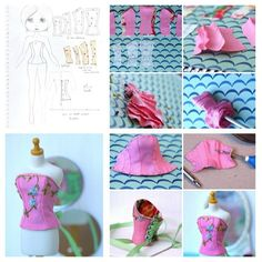 Step by step on how to make a corset bodice for any doll