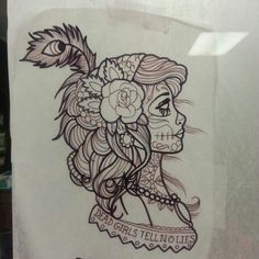 Day of Dead/Drawing by Sam Staley