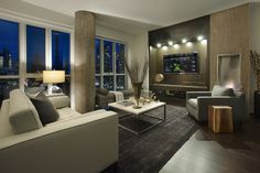 Contemporary Living Photos Condo Design Ideas, Pictures, Remodel, and Decor - page 13