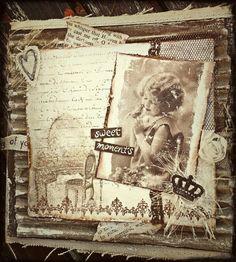 June 1921 #scrap #scrapbooking #vintage #minialbum #album #canvas #chbycarolacoch @Carol Van De Maele Auvil Coch