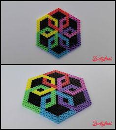 Coaster -- perler beads by Biotyfool