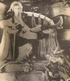 1986 - David Bowie as Jareth, The Goblin King in Labyrinth. David Bowie Labyrinth, Labyrinth 1986, Labyrinth Movie, Jareth Labyrinth, Jim Henson Labyrinth, Requiem For A Dream, Labrynth, Fraggle Rock, Goblin King