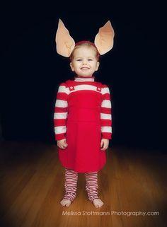 Olivia the pig Halloween Costume and dress up by Melissa melissastott