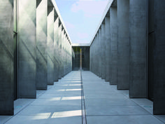 The State Museum of Egyptian Art and The University of Film and Television by Peter Böhm Architekten located in Gabelsbergerstraße, München, Germany. A As Architecture, Minimalist Architecture, Contemporary Architecture, Concrete Facade, Concrete Design, Peter Zumthor, Frank Gehry, Egyptian Art, Design Museum