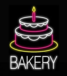 d3bb124af99 Bakery Cake Neon Sign Real Neon Light