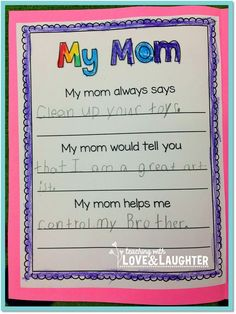 Mother's Day Writing Freebie