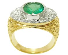 14k emerald ring for men
