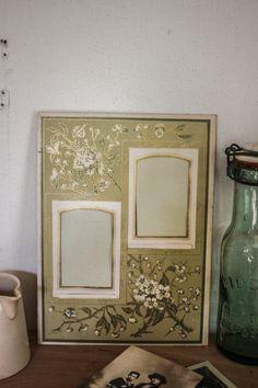 French victorian album photo page, antique art nouveau carton photo frame by LaChineuseFrancaise on Etsy