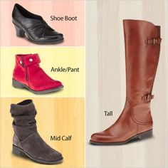 Shop at FootSmart for shoe boots, ankle boots, mid calf boot and tall boots. #boots