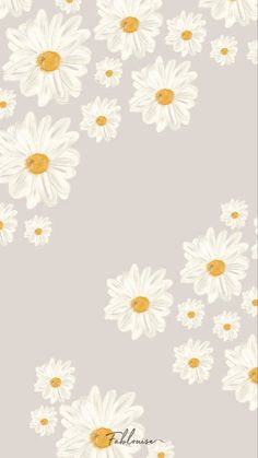 Simple Iphone Wallpaper, Daisy Wallpaper, Flower Phone Wallpaper, Watercolor Wallpaper, Iphone Wallpaper Tumblr Aesthetic, Cute Wallpaper For Phone, Simple Wallpapers, Cute Patterns Wallpaper, Iphone Background Wallpaper