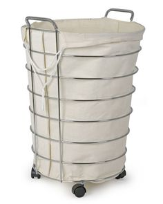 Laundry Bags With Handles Delectable Cheap & Chic How To Make A Frenchvintageinspired Wire Hamper Inspiration Design