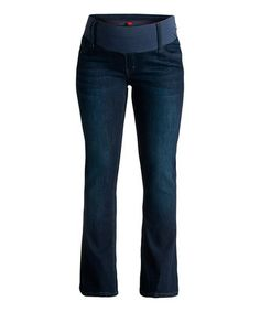 Another great find on #zulily! Dark Wash Under-Belly Maternity Bootcut Jeans #zulilyfinds