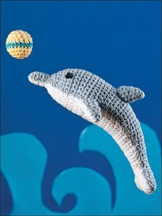 Playful crocheted dophin