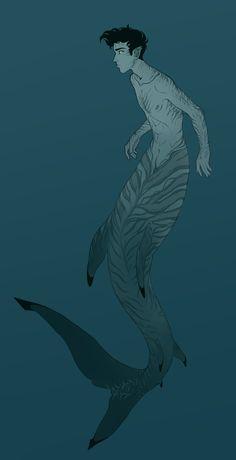Percy as a merman