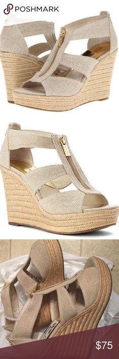 Michael Kors Wedge Sandal NWOT MICHAEL by Michael Kors wedge sandal. Classic sandal. Versatile and fun! Never worn. NWOB. MICHAEL Michael Kors Shoes Wedges
