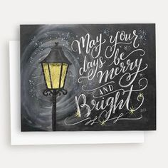 May Your Days Be Merry & Bright - A2 Note Card #Christmas #Friendship #Gifts