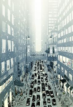"""winter in the city - """"Christmas Is Coming"""" by Pascal Campion"""