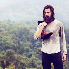beautiful photo, full thick dark beard and mustache long hair beards bearded man men mens' style bearding #beardsforever