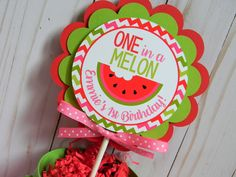 Watermelon Cake Topper, Watermelon Party Decor, Watermelon Smash Cake Topper, One in a Melon Circle Cake Topper, First Birthday Watermelon Party Supplies, Watermelon Party Decorations, Watermelon Birthday Parties, Birthday Party Decorations, 1st Birthday Themes, Baby Girl First Birthday, 2nd Birthday, Birthday Ideas, One In A Melon