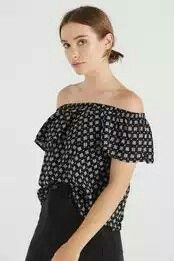 noah frill off the shoulder Off Shoulder Blouse, Off The Shoulder, No Frills, Cotton, Stuff To Buy, Tops, Women, Fashion, Moda