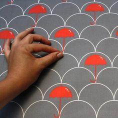 red umbrella fabric $4
