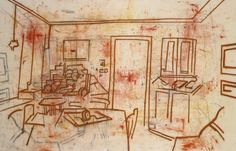 Tony Bevan Painting Room 2007 Charcoal and Acrylic on Canvas Mark Making, Fine Art, Canvas, Drawings, Room, Painting, Tela, Bedroom, Painting Art