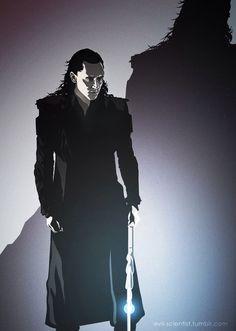 "evil-scientist: "" One more Loki, again this is inspired by ""Off the Record"" by Hella, (chapter 11 I think). Loki Marvel, Marvel Dc Comics, Thor, Avengers 2012, Avengers Art, Best Avenger, Loki Art, The Dark World, Tom Hiddleston Loki"