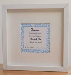 Forever  Framed Personalised Mr and Mr Wedding by ScriptedforYou