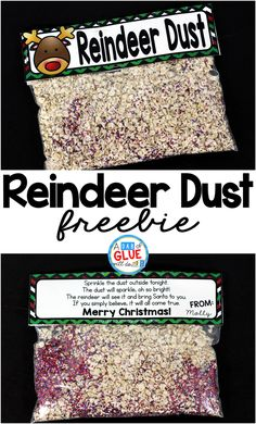 Reindeer Dust Reindeer Dust is the perfect free printable for your students or your child's friends at school. This fun activity will make their Christmas magical. It is perfect for preschool, kindergarten, and first grade students. Student Christmas Gifts, Diy Christmas Gifts For Kids, School Christmas Party, Preschool Christmas Crafts, Kids Gifts, Christmas Fun, Christmas Activities For Preschoolers, Christmas Treats, Christmas Carol