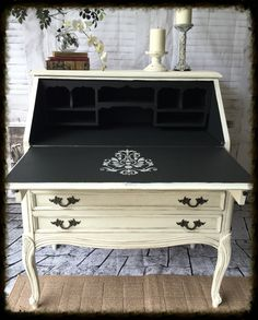 Secretary Desk makeover by Addiction Decor