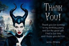 Maleficent thank you card
