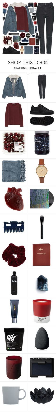 """BITTER IRONY"" by doubting ❤ liked on Polyvore featuring Topshop, The Row, adidas, Surya, Olivia Burton, Givenchy, Miss Selfridge, FOSSIL, Sooryehan and Pantone"