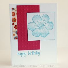 A few techniques are shown for making handmade cards in this blog post.