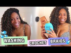IN-DEPTH  HOW TO WASH CROCHET BRAIDS & SCALP + POST-WASH MAINTENANCE  LIA LAVON - YouTube