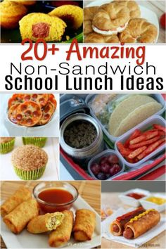 If your kids are tired of sandwiches, check out these Non Sandwich Lunch Ideas. 20 non sandwich lunch ideas for kids that even picky eaters will enjoy. Snacks for Kids Non Sandwich Lunches, Lunch Box Recipes, Thermos Lunch Ideas, Dinner Recipes, Lunch Boxes, Healthy Sweet Snacks, Nutritious Snacks, Healthy Lunches, Sandwiches