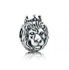 Charm Berloque Banhado em Prata Leão Majestoso