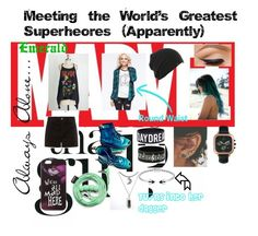 """""""Meeting The World's Greatest Superheores (Apparently)"""" by nuhaehsan on Polyvore"""