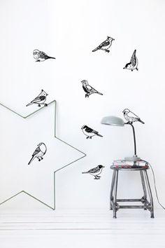 Drawing Birds | Ferm Living wall decor