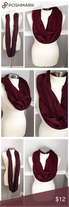 Infinity Scarf | Maroon Stretchy material infinity scarf. Maroon / deep radish color. BUNDLES 20% OFF  Accessories Scarves & Wraps