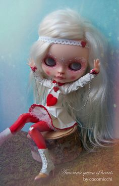 RESERVED for LILLY****** OOAK custom Neo Blythe doll: Amorina