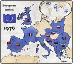 The European Union in an alternate timeline. Alternate Map of EU by ~Magnificate on deviantART Old World Maps, Old Maps, European History, Ancient History, Imaginary Maps, Fantasy Map, Alternate History, Historical Maps, Romania