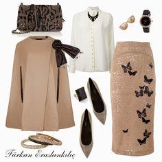 Türkan Eraslankılıç: Like one of the four combi boilers - Cute Outfits Muslim Fashion, Modest Fashion, Skirt Fashion, Hijab Fashion, Fashion Outfits, Modest Dresses, Modest Outfits, Classy Outfits, Chic Outfits