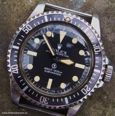 Perfect military Rolex Submariner ref 5517, f%cking awesome!