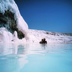 #Pamukkale snow white slopes and pools is great entourage for PRO photos