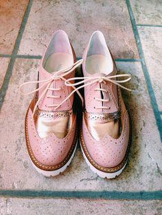 Mauro Leone docet.  mauroleone  oxfordshoes  stringate  pinkpower e3a03d0cd40