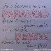Paranoid Quote Embroidery, Dresden Files