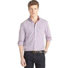 IZOD Tattersall-Plaid Casual Button-Down Shirt - Men